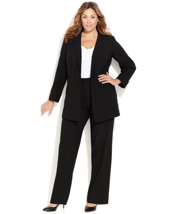 Calvin Klein Plus Size Suit Separates Collection - Shop All Suits & Suit Separates - Plus Sizes - Macy's
