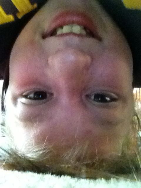 Just standin on my head cuz i bored