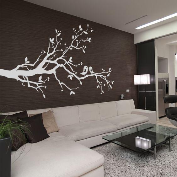 stickers arbre oiseaux rajouter quelques oiseaux aux. Black Bedroom Furniture Sets. Home Design Ideas