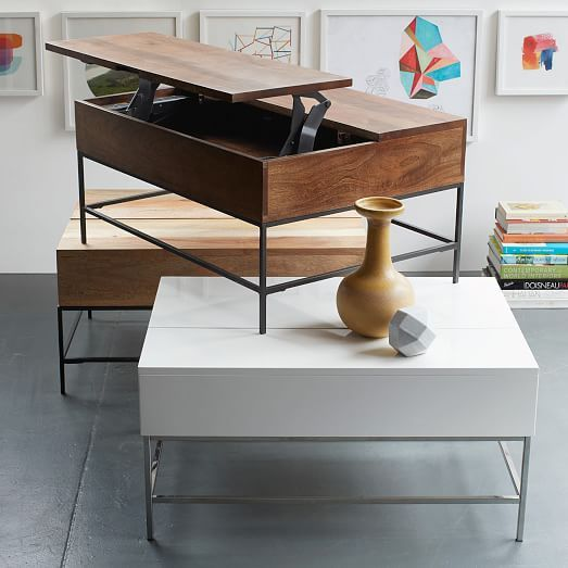Industrial storage coffee table west elm 599 36 699 50 could be used under - West elm bathroom storage ...