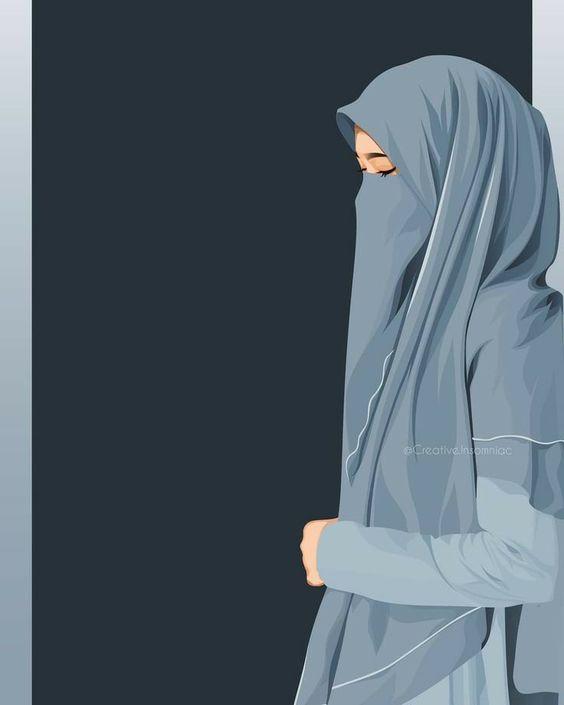 Gambar Karakter Muslimah Dewasa