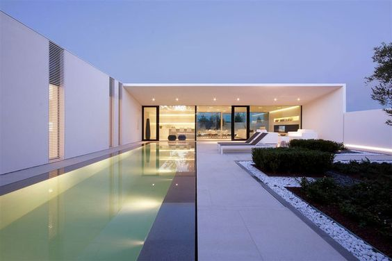 Serene White House With Walled Outdoor Space