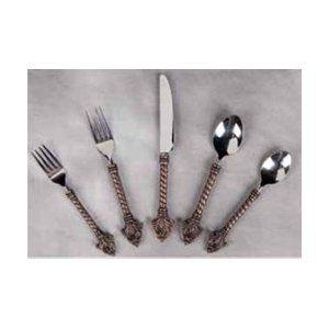 Gracios Goods 20pc Fleur De Lis Flatware Set: Wish List, Collection Backordered, Gg Collection, Fleur De Lis, Goods 20Pc