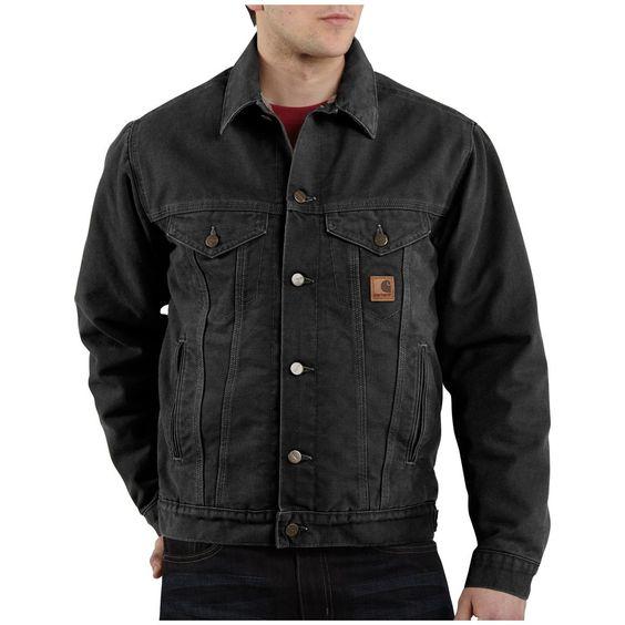Men's Carhartt® Workwear Sandstone Jean Jacket, Army Green | Jean ...