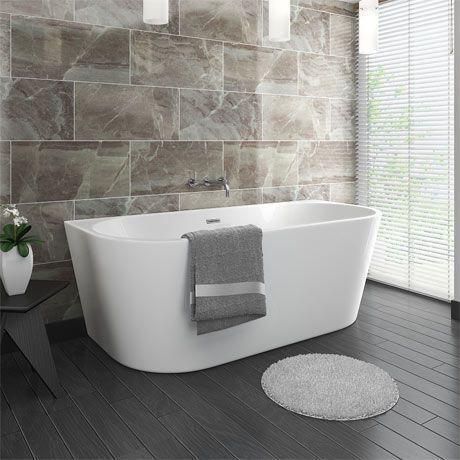 Apollo Back To Wall Modern Curved Bath 1700 X 780mm In 2020 Modern Bathroom Back To Wall Bath Free Standing Bath
