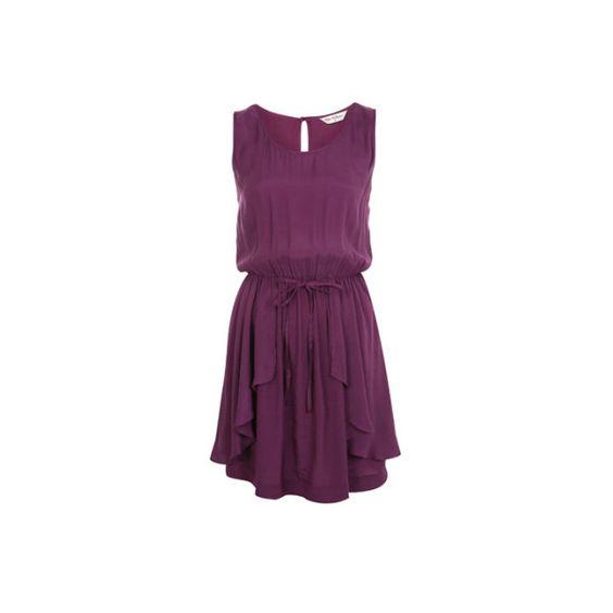 Miss Selfridge Mauve Drape Dress** Online | Shop at Style Compare ($14) found on Polyvore