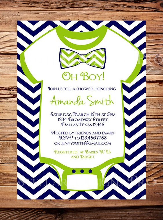 onesie baby shower invitation boy oh baby bow tie baby boy shower
