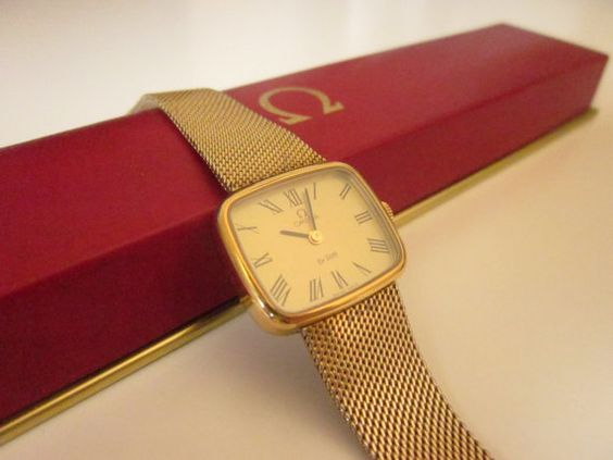 OMEGA DEVILLE Ladies 1970s with Omega Box by yukyri on Etsy