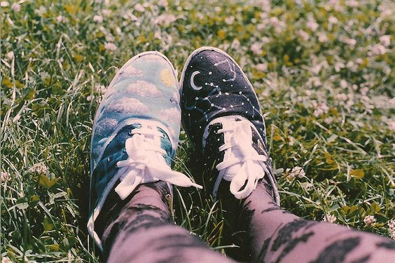 Day & Night Painted Shoes