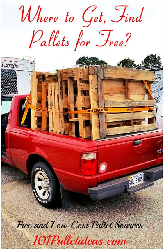 Where to Get, Find #Pallets for Free? • 101 Pallet Ideas   Free and Low Cost #Pallet Sources