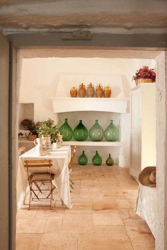 Decorating With Demijohns. 12 European Farmhouse Rustic Decorating Ideas.