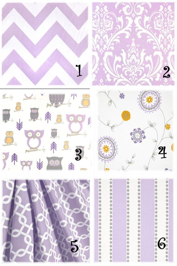 purple lavender girl nursery fabric curtains pillow by