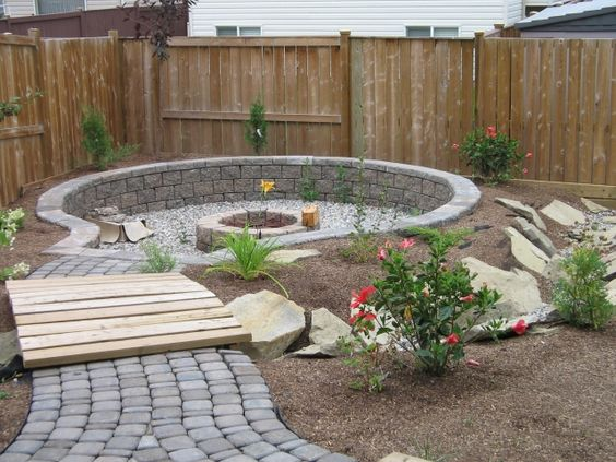Fire Pits Small Yards And Search On Pinterest