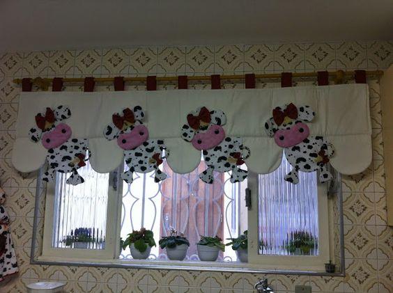 Cenefas de tela de cocina buscar con google ideas para - Tela cortinas cocina ...