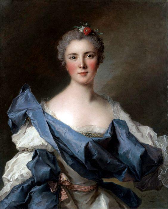 Jean-Marc Nattier (1685-1766): Portrait of the Comtesse d'Andlau, née Marie Henriette de Polastron. 1743