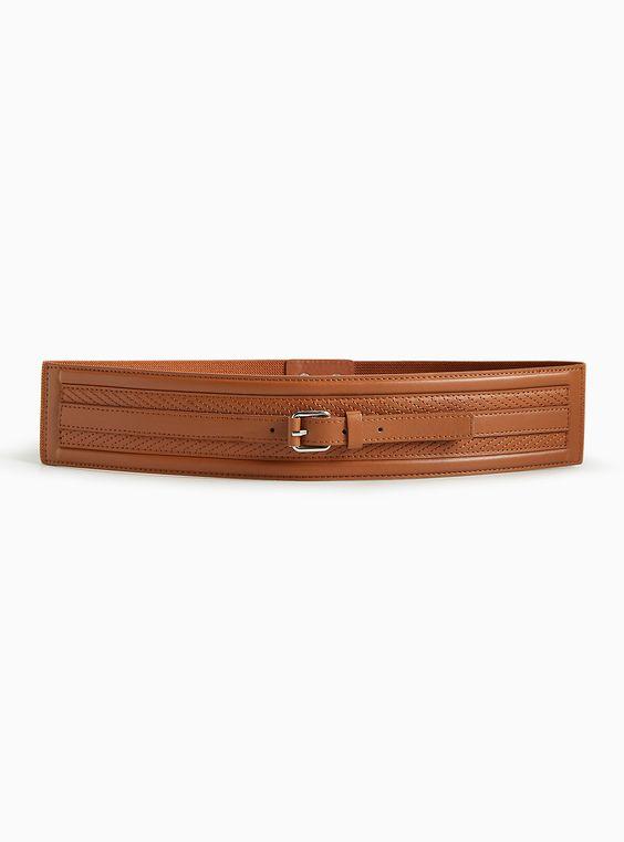 Buckle Center Panel Stretch Belt | Torrid