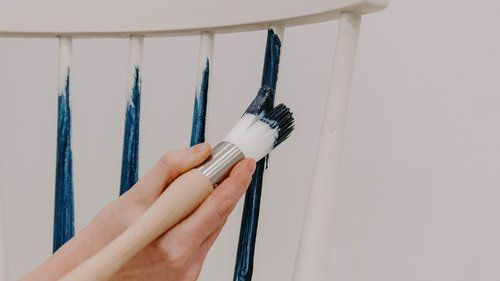 The Best Brush For Painting Spindles Detailed Moldings And Getting Those Hard To Reach Spots Market House Restorations Best Brushes Painting Wood Furniture Painted Wood Chairs