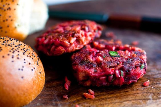 For some reason these pink burgers tasted better to me after they'd sat for a day in the refrigerator. So make them ahead for quick meals through the week and reheat in a medium oven or a frying pan. (Photo: Andrew Scrivani for The New York Times)