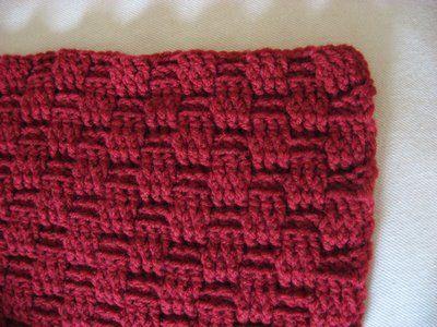 Basket weave stitch... One of my fav crochet stitches!