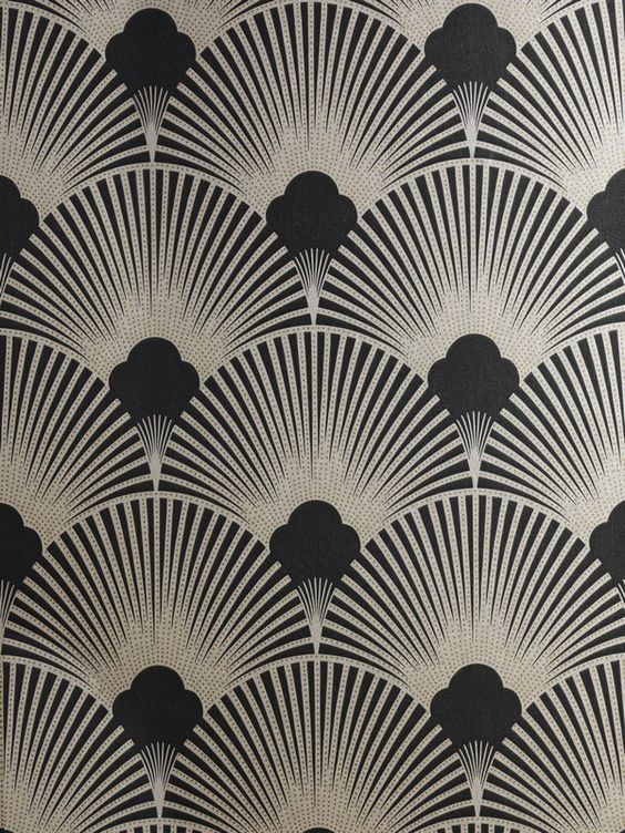 Art Deco Metallic Wallpaper Pattern Ws128 Wallpaper