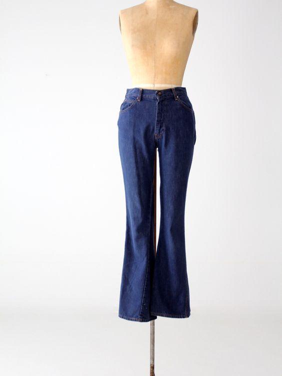 vintage 60s Levi's for Gals denim jeans, 28 x 31