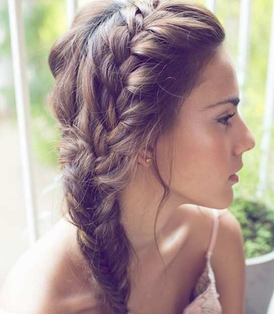 Surprising Easy Prom Hairstyles Braids Long Hair And Hair To The Side On Hairstyles For Men Maxibearus