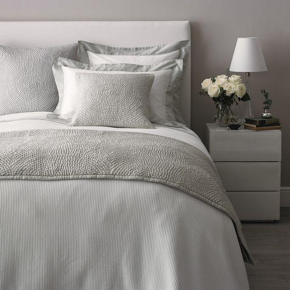 Genoa Bed Linen Collection - Eucalyptus | The White Company