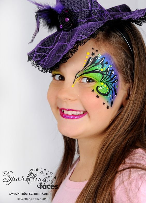 face paintings girly girl and paintings on pinterest. Black Bedroom Furniture Sets. Home Design Ideas