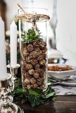 christmas decoration, christmas table, silver green christmas tabel decoration…