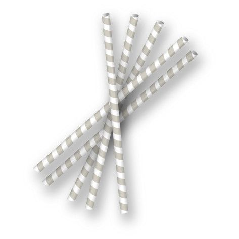 'Slate Grey Paper Straws', on Minted.com - $4 for 24