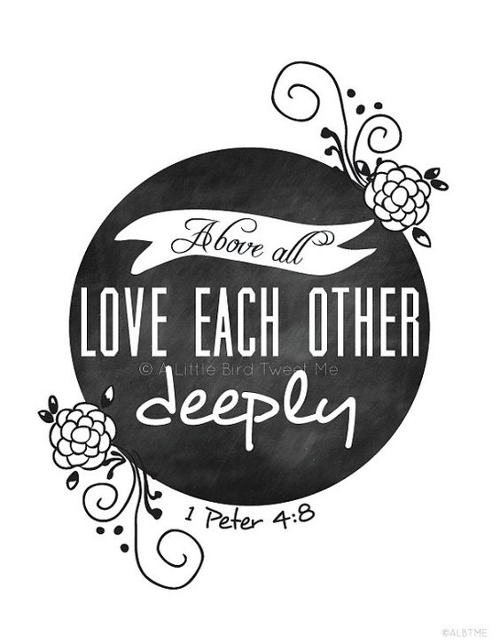 Love Each Other Deeply Gallery