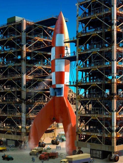 La vraie fus e de tintin futurism retrofuturism pinterest spaceships posts and rockets - Fusee de tintin a colorier ...