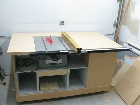 Table Top With The Accu Square Fence Installed Woodworking Pinterest Table Saw Tables And