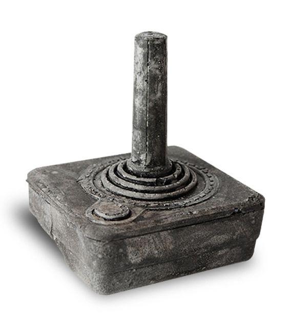 Joystick.   Vintage Gamer Tech cast in concrete by Bughouse Design