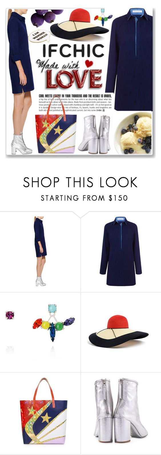 """""""Ifchic contest"""" by oleahg ❤ liked on Polyvore featuring Atea Oceanie, Joomi Lim, Eugenia Kim, Karen Walker, MARIOS, Noir and ifchic"""