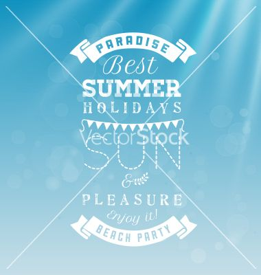 Best summer holidays - calligraphy design vector typograpy - by safy20 on VectorStock®