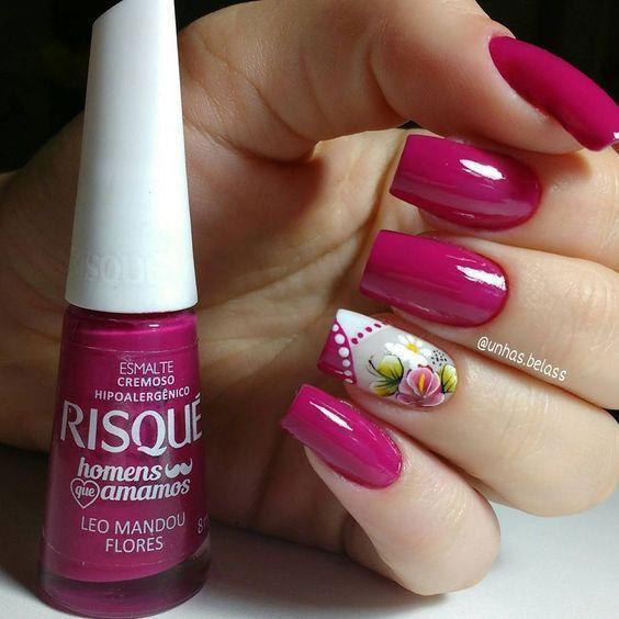 Flor com francesinha na diagonal