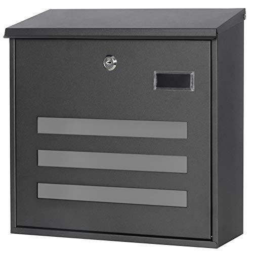 Decaller Wall Mounted Mailboxes With Key Lock Metal Large Mail Box 13 X 13 3 5 X 4 1 5 Black Decaller In 2020 Wall Mount Mailbox Mounted Mailbox Key Lock