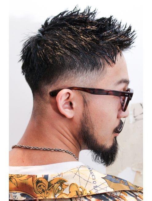 フェードワイルドツーブロックセミウェット無造作アップバング L メリケンバーバーショップ Merican Barbershop のヘアカタログ ホットペッパービューティー メンズヘアスタイルフェード メンズヘアカット メンズ 髪