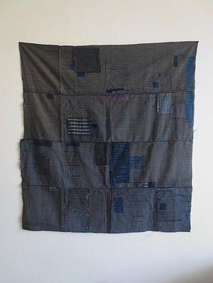 Antique Japanese indigo boro textile www.mujostore.com