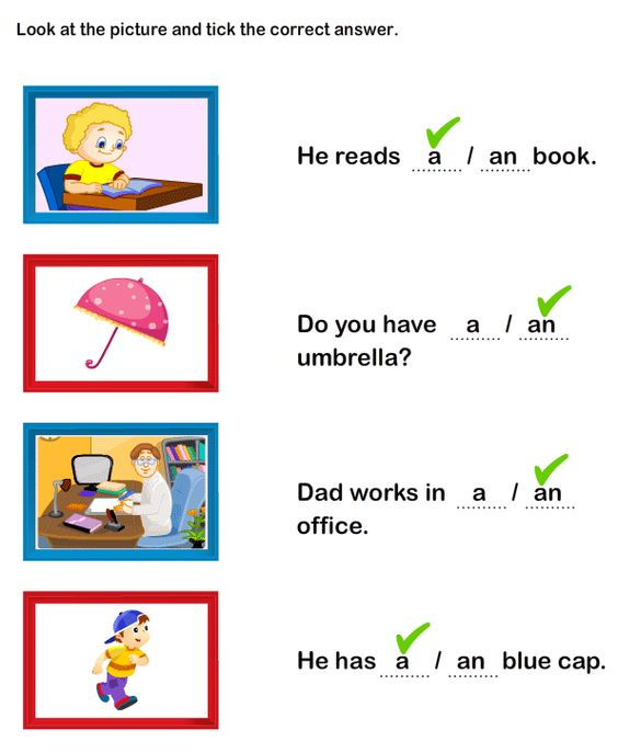 exercises using articles in english