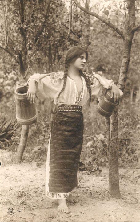 Romania Gallery - Girl Carring Water