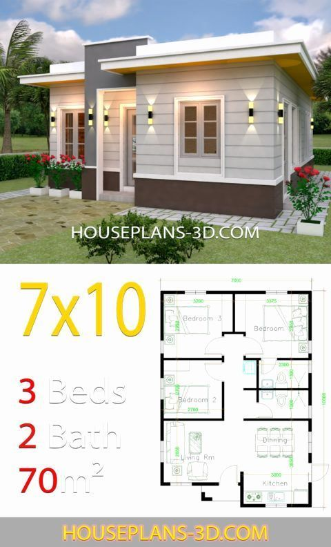 Small Flat Roof House Plans Awesome House Design 710 With 3 Bedrooms Terrace Ro Architectural House Plans Flat Roof House Small House Design Plans
