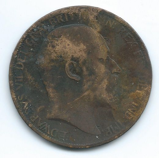COIN MONEY Great Britain 1903 1 Penny Edward VII Copper  https://ajunkeeshoppe.blogspot.com/