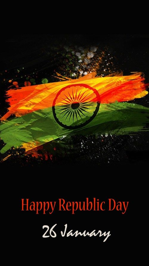 Abstract India Flag With Dark Background For Republic Day