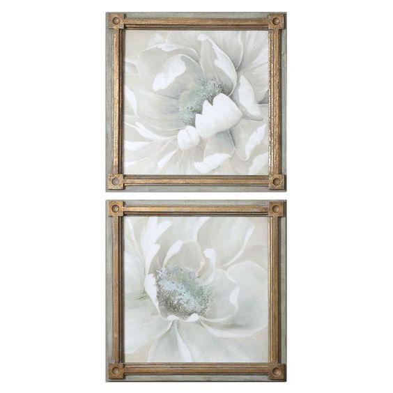 Winter Blooms Floral Art (Set of 2)