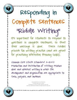 clear thinking and writing answers in complete