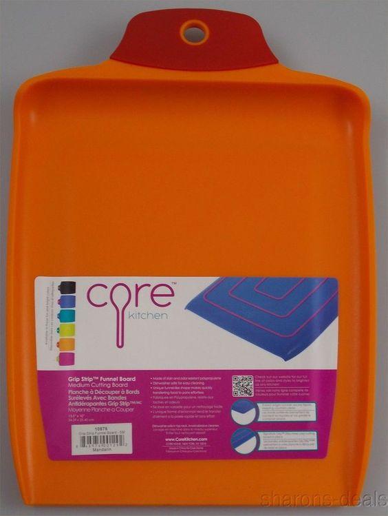 Core Kitchen Grip Strip Funnel Board Medium Cutting Orange Stain Odor Resistant #CoreKitchen