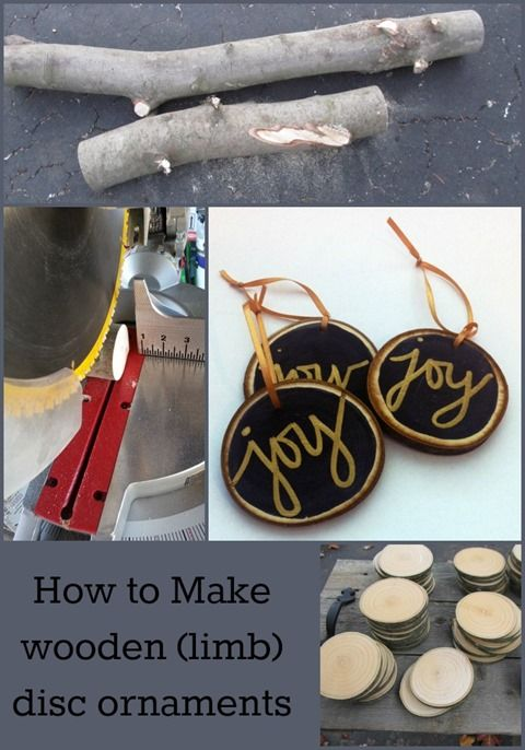 tree-disc-ornaments - considering the amount of wood in my yard, I could make a mint with these.