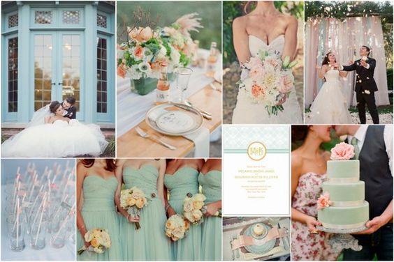 Aqua & Peach Wedding Inspiration